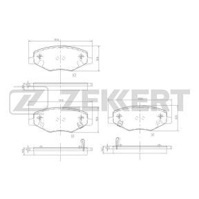 Колодки тормозные передние Chery Amulet (Zekkert, Европа)